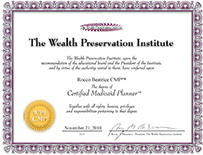 CMP Certified Medicaid Planner designation from the Wealth Preservation Institute: Rocco Beatrice