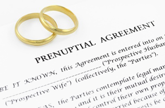 Prenuptial agreement contract.
